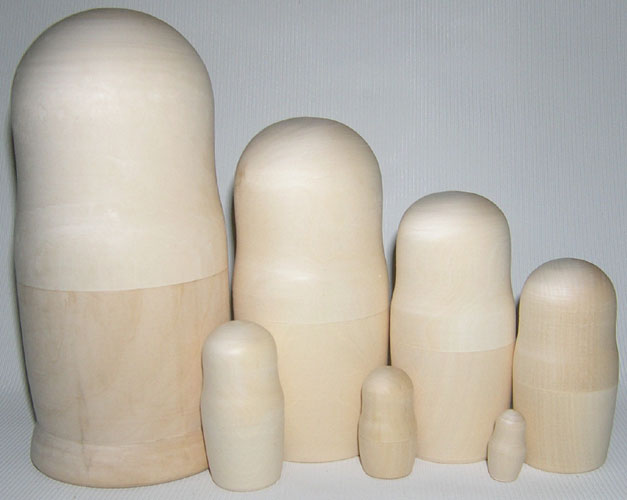 Blank 7 Piece Stacking Doll