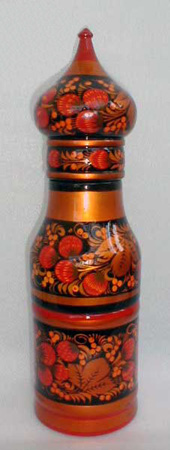 Khokhloma Bottle Case