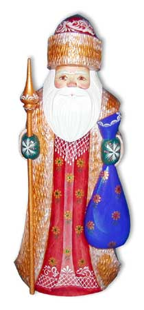 Santa with Gift Sack Figurine