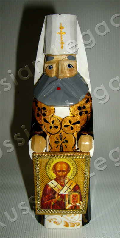 Orthodox Priest Carved Figurine