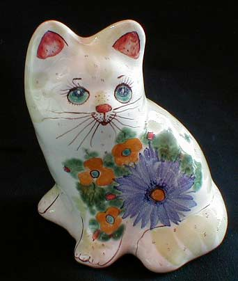 Cat Porcelain Figurine