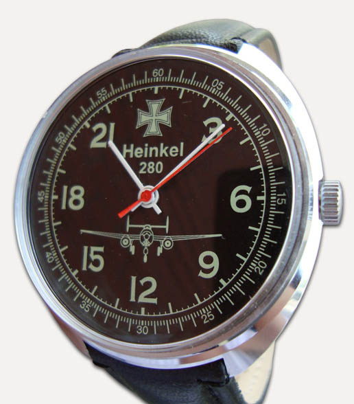 Russian watches and clocks - 'Heinkel 280' Wrist Watch - Raketa' Wrist Watches