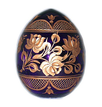 Blue & Gold Crystal Egg