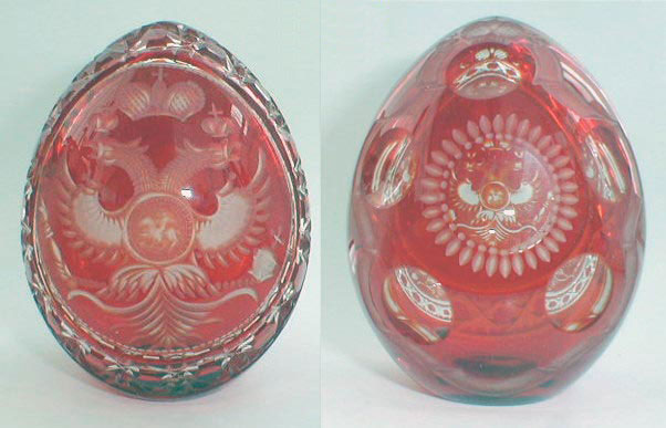 Russian Imperial Eagle on Red Crystal Egg