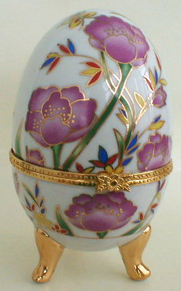 flowers porcelain egg jewelry box russian legacy