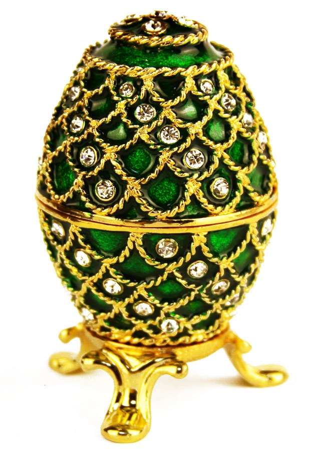 Emerald Lace Faberge Style Egg