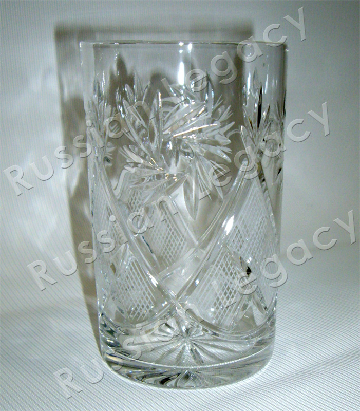 Etched Crystal Glass Holder Insert