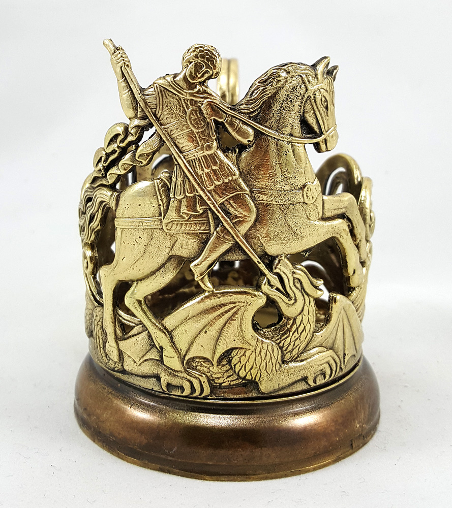 Saint George Glass Holder