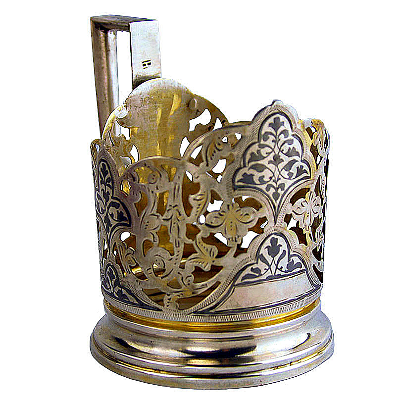 Kubachi Silver Glass Holder