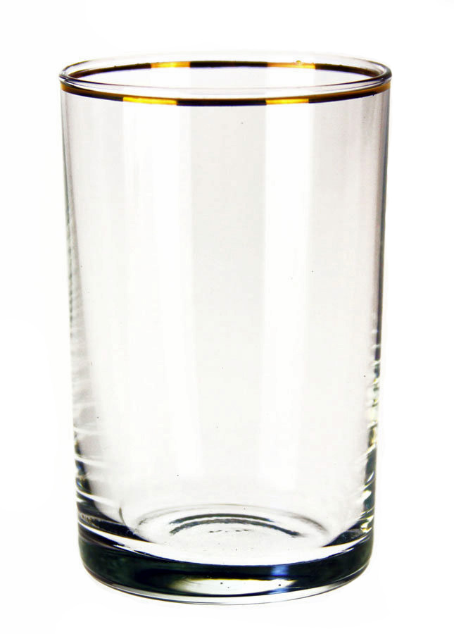 Golden Rim Plain Glass
