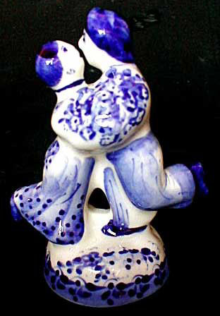 Gzhel Couple Figurine