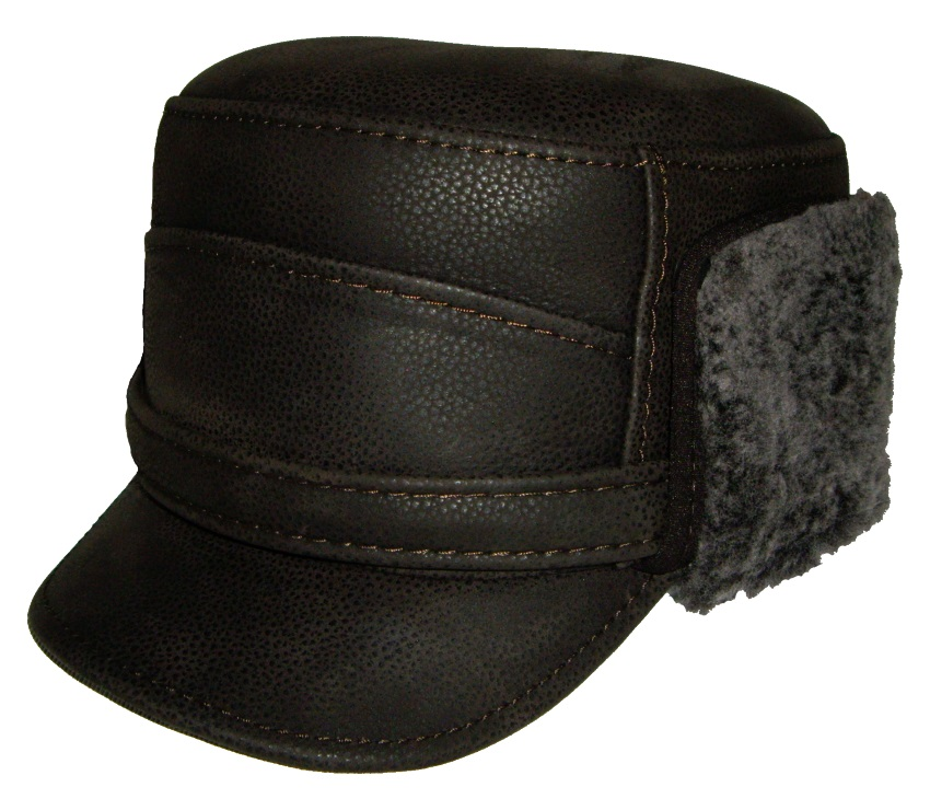'Austrian Style' Leather Winter Cap