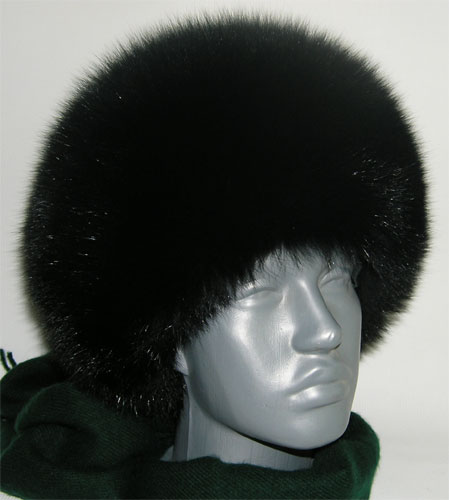 Women\'s Fox Full Fur Hat Black
