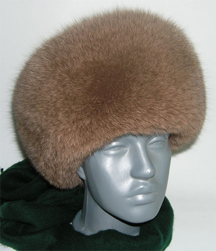 Women\'s Fox Full Fur Hat Beige
