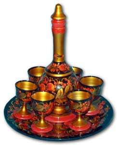 Wine Set (Decanter, Tray, 6 Cups)