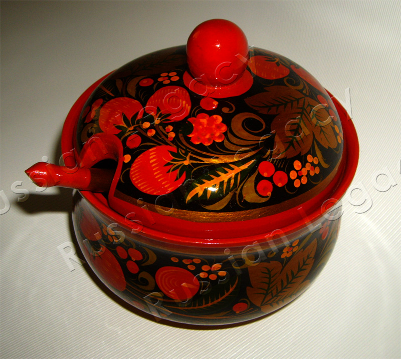Khokhloma Sugar Bowl