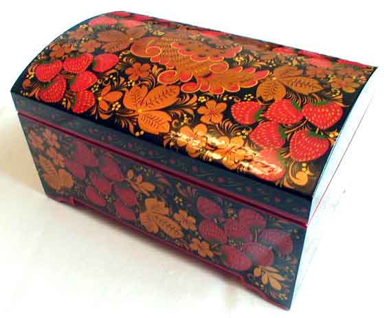 Golden Khokhloma Jewellery Box