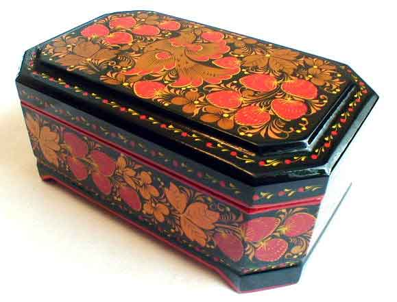 Firebird Khokhloma Jewelry Box