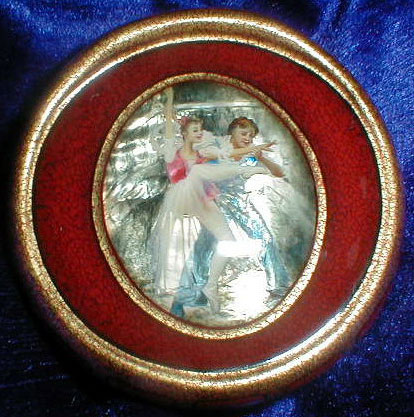 Russian Jewelry Box With Lacquer Miniature Painting