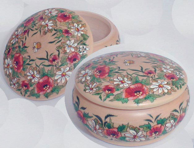 Poppies Jewelry Box