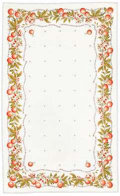 Oranges Pure Linen Tablecloth