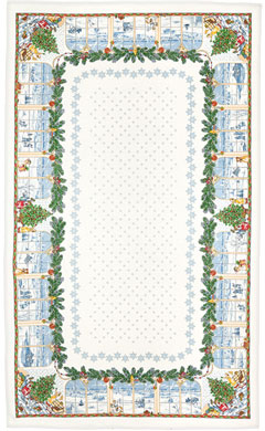 Christmas Pure Linen Tablecloth