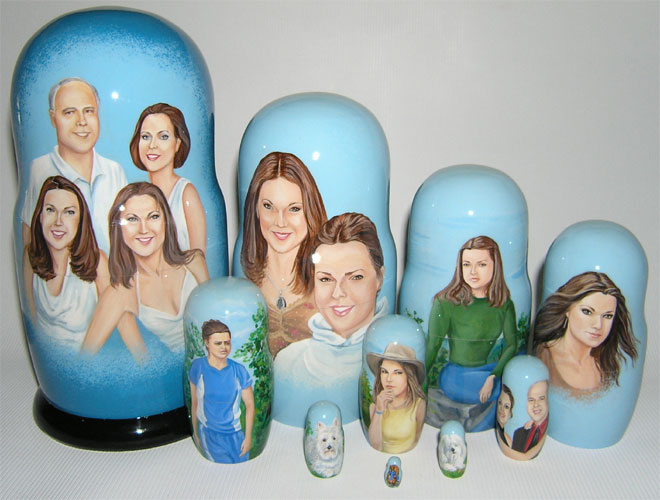 Family Custom Nesting Doll