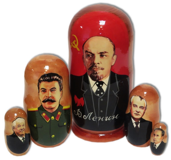 Lenin to Putin Stacking Doll