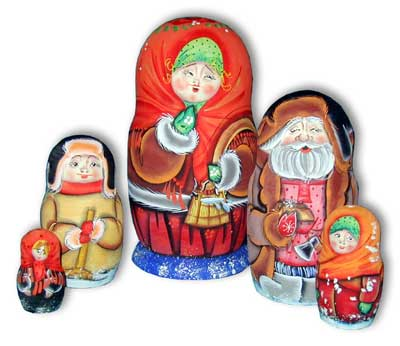 Winter Errands Russian Doll