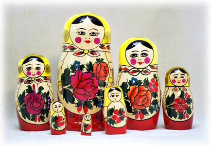 Semenov 7 Piece Stacked Doll