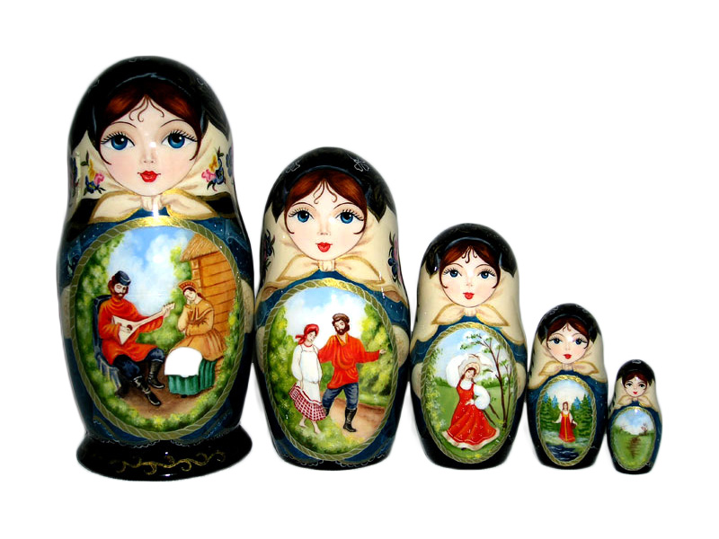 Summer in Village Russian Doll
