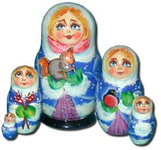 Winter Cuties Nesting Doll