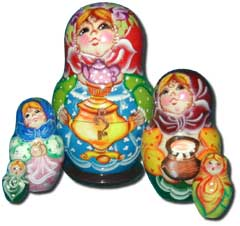 Tea Drinking Matreshka