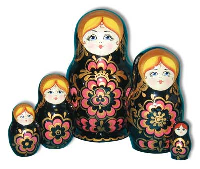 Khokhloma Stacking Doll