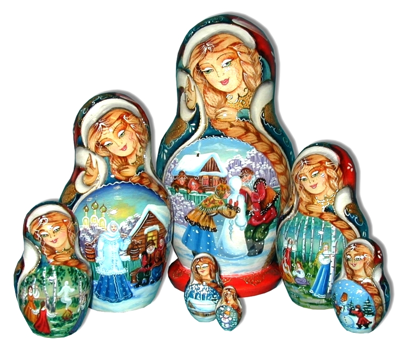 Snow Maiden Russian Doll
