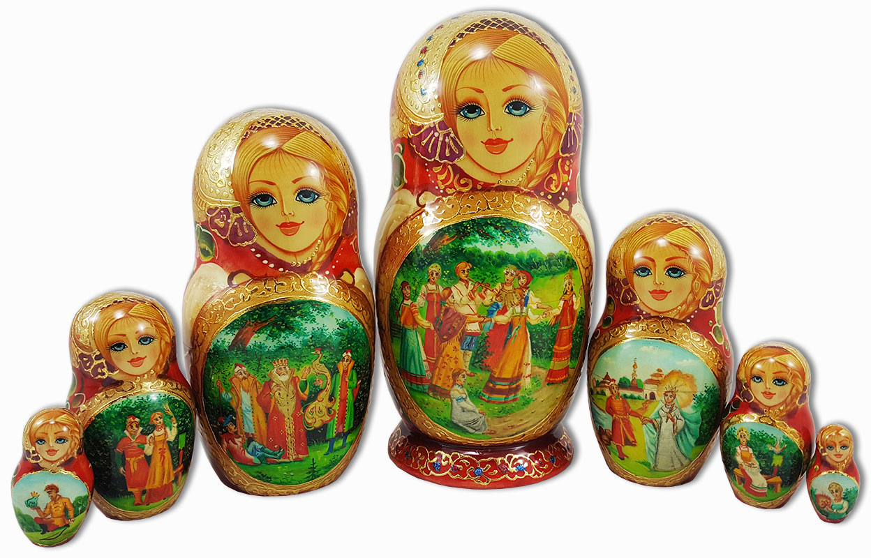 Tsarevitch Ivan Fairy Tale Russian Doll