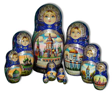 Russian souvenirs - Bridge to Moscow Tour guide services