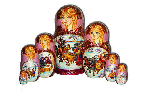 Russian Winter Matryoshka