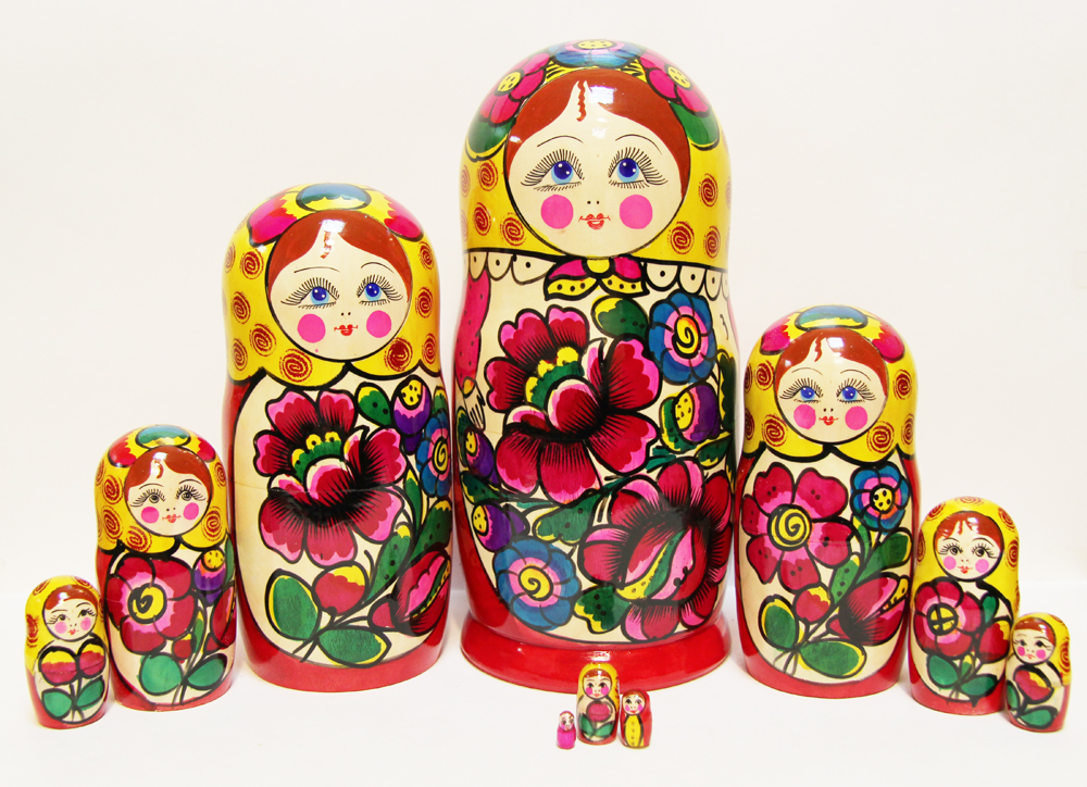 Maidan 10 Piece Nesting Doll