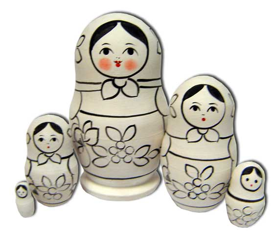 Russian Practice Doll Set