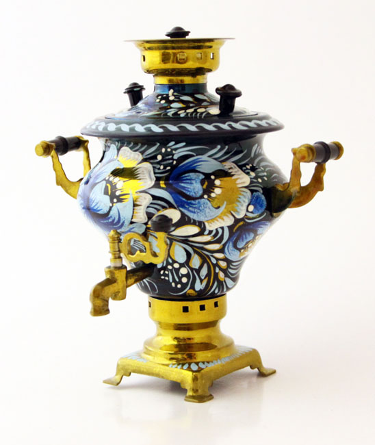 Tiny Hand-Painted Samovar