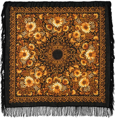 Sunflowers Pavlovo Posad Shawl