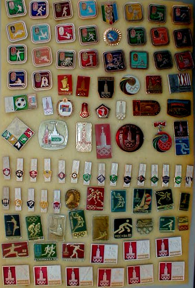 '1980 Summer Olympics' 100 Pins & Badges