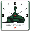'Soviet Army' Wall Clock - Glass Wall Clocks