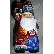Santa with Bell Carved Figurine 2