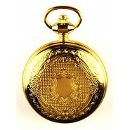 Gold Skeleton Poljot Pocket Watch 3