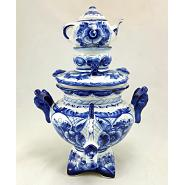Gzhel Porcelain Decorative Samovar 2