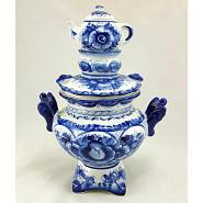 Gzhel Porcelain Decorative Samovar 3
