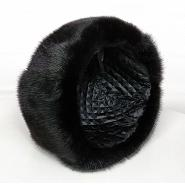 Russian Mink Fur & Leather Hat 4