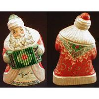 Santa with Accordion Figurine